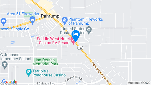 Saddle West Hotel and Casino and RV Park Map