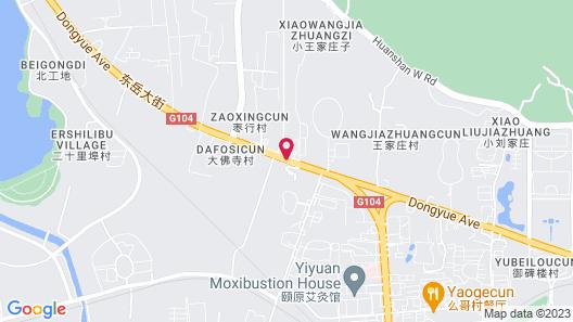 7 Days Inn Taian Municipal Square Branch Map