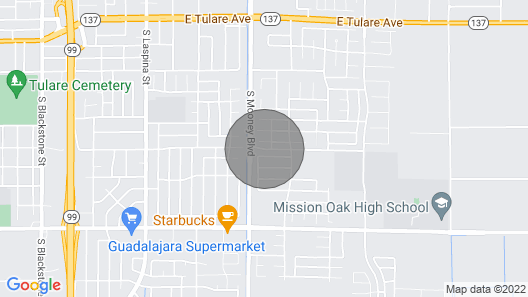 Comfortable Tulare Home Map