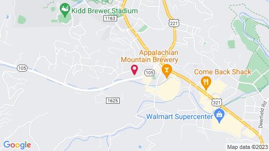 Comfort Suites Boone - University Area Map