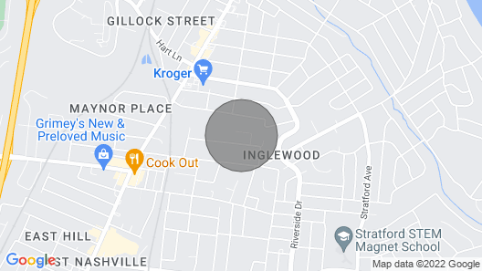 Charming Nashville Home Near Restaurants & Bars! Map