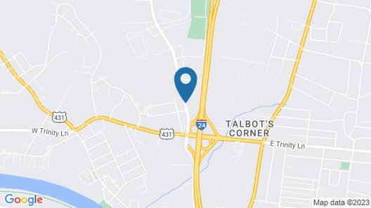 Americas Best Value Inn Nashville Downtown Map