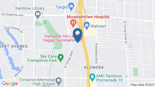 Hampton Inn Las Vegas Map