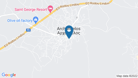 Charming House at Foot of the Acropolis in Archangelos, Rhodes Map
