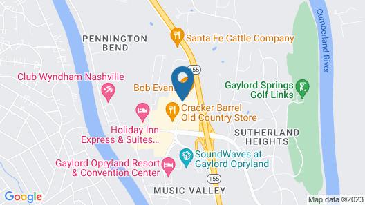 Hyatt Place Nashville Opryland Map