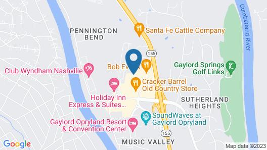 Hampton Inn & Suites Nashville @ Opryland Map