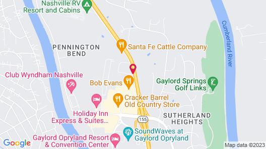 Residence Inn by Marriott Nashville at Opryland Map