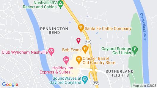 Courtyard by Marriott Nashville at Opryland Map