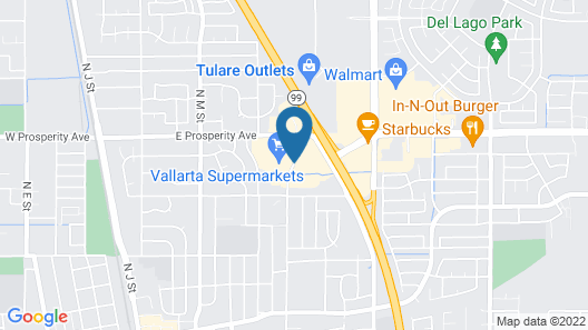Hampton Inn And Suites Tulare Map