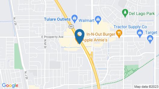 Motel 6 Tulare, CA Map