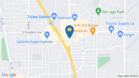 Fairfield Inn & Suites Visalia Tulare Map
