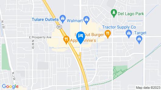 Fairfield Inn & Suites Visalia Tulare Map