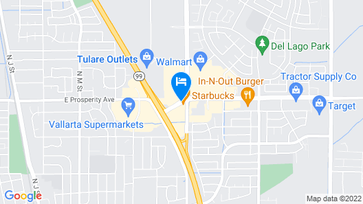 Holiday Inn Express & Suites Tulare Map