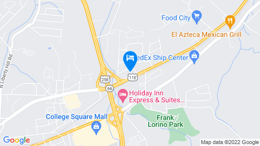 Holiday Inn Express & Suites Morristown Map