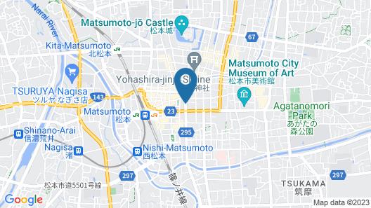 Toyoko Inn Matsumoto Ekimae Hommachi Map