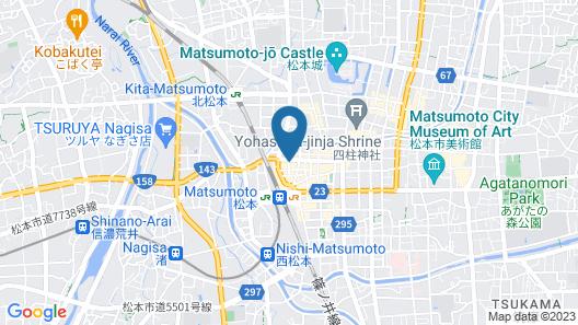 IROHA GRAND HOTEL Matsumotoekimae Map