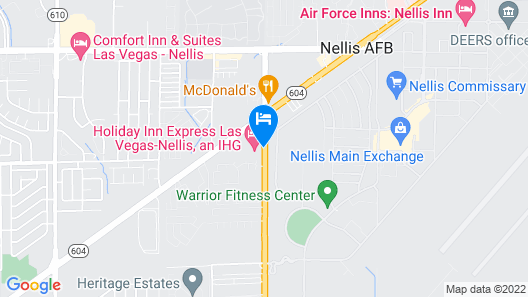 Holiday Inn Express Las Vegas-Nellis Map