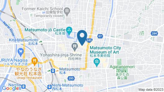Matsumoto Hotel Kagetsu Map
