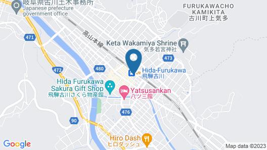 Hida Furukawa Speranza Hotel Map