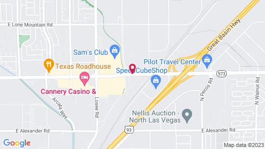 Hampton Inn Las Vegas North Speedway Map