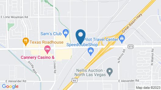 SpringHill Suites Las Vegas North Speedway Map