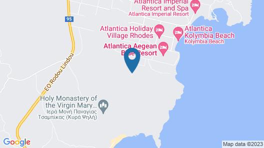 Casa Cook Rhodes Map