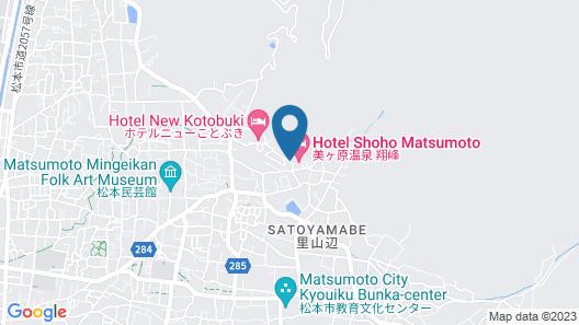 Shinshu Matsumoto Utsukushigahara Onsen Shoho Map