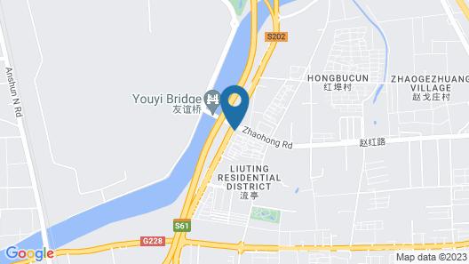 Days Inn Frontier Qingdao Airport Map