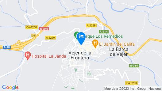 La Fonda Antigua Map