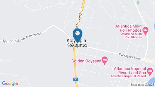 Kolymbia Village Map