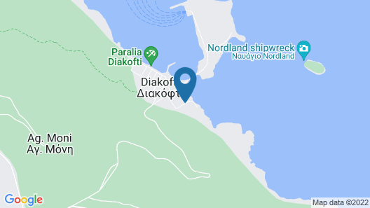Hotel Porto Diakofti Map