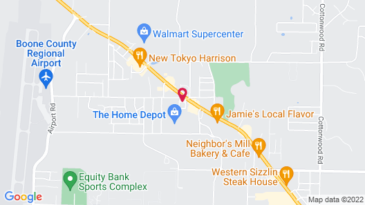 Super 8 by Wyndham Harrison AR Map