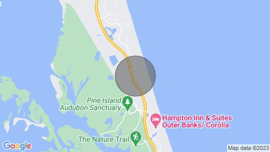 Semi-oceanfront Home In Corolla W/heated Pool & Hot Tub Map