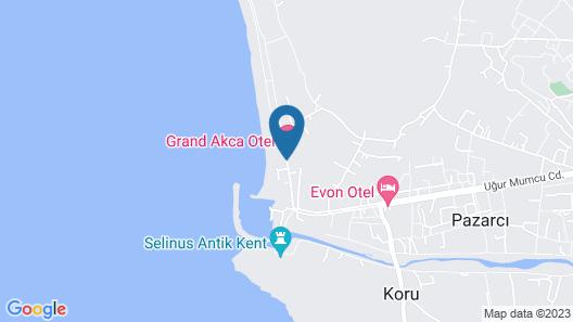 Grand Akca Hotel Map