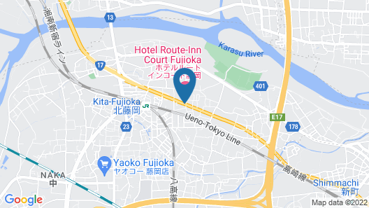 Hotel Route-Inn Court Fujioka Map