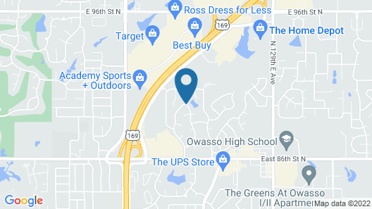 Hampton Inn & Suites Tulsa North/Owasso Map