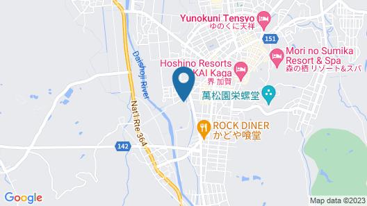 Yamashiro Onsen Miyabi no Yado Kaga Hyakumangoku Map