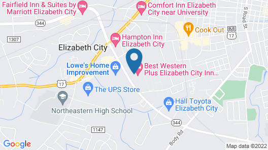 Best Western Plus Elizabeth City Inn & Suites Map