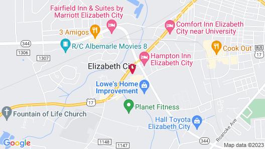 Quality Inn Elizabeth City near University Map