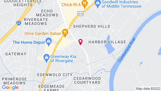 InTown Suites Extended Stay Nashville TN Madison Map