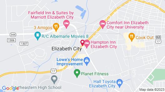 Hampton Inn Elizabeth City Map