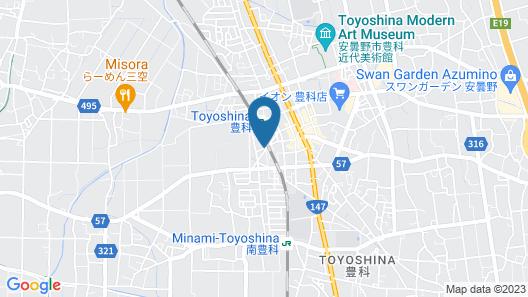 Hotel Route-Inn Court Azumino Toyoshina Ekiminami Map