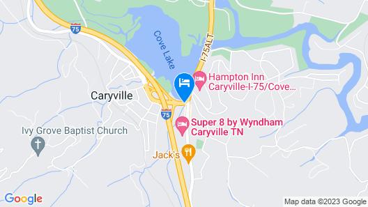 Hampton Inn Caryville Map