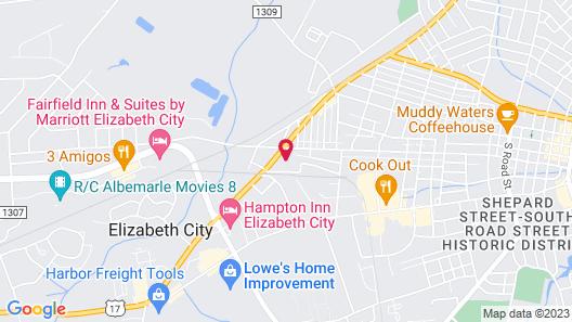 Comfort Inn Elizabeth City near University Map