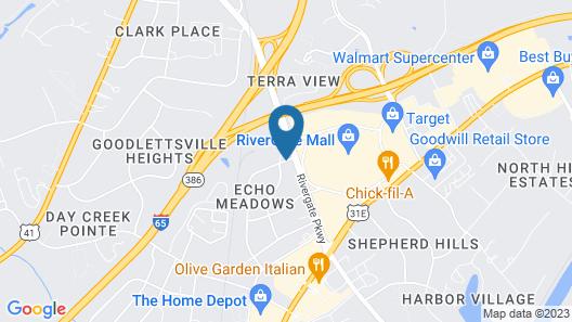 Magnuson Hotel Nashville North Map