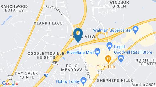 Americas Best Value Inn Goodlettsville Nashville N Map