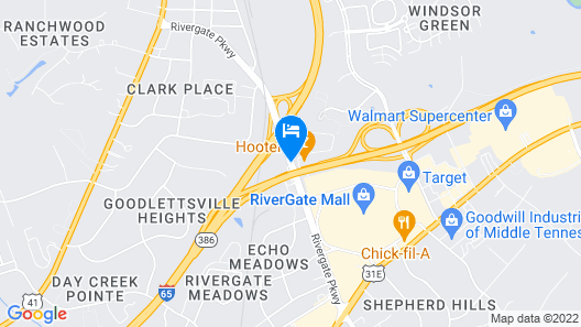 Comfort Suites At Rivergate Mall Map