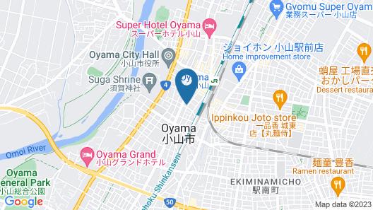 OYO Hotel Suncity Oyama Map