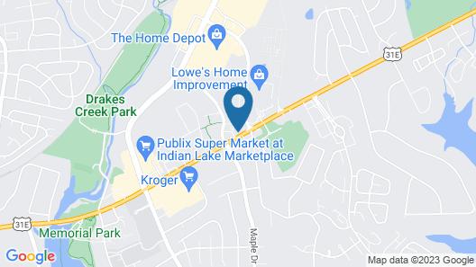 Hyatt Place Nashville/Hendersonville Map