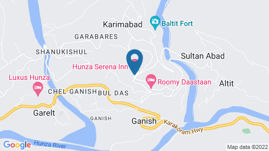 Hunza Serena Inn Map
